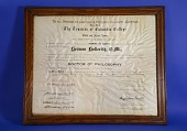 view Framed Diploma of Herman Hollerith, Doctor of Philosophy, Columbia University digital asset: Framed Diploma of Herman Hollerith, Doctor of Philosophy, Columbia University