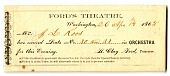 view Ticket to Ford's Theater, April 14th, 1865 digital asset number 1