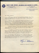 view Letter, from Ray W. Podmore of the American Legion to Melvin Scott, Los Angeles, 1940s digital asset number 1
