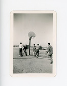 view Photograph, boys playing basketball, unknown place, unknown date digital asset number 1