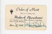 view Order of Merit Card, Robert Murakami digital asset number 1