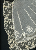 view Embroidered Cape With Lace Border digital asset number 1