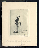 view old woman with cane digital asset: woman with cane C. Allen Sherman