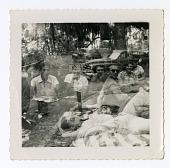 view group having a picnic digital asset: Group having a picnic
