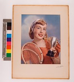 view Girl with tennis racket digital asset: Girl with tennis racket