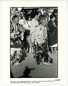 view Ben Marcus and Little Joe Gomez (of the Peyote Church) during ceremonial dance at the Taos pueblo. Taos, NM 1967. digital asset: Ben Marcus and Little Joe Gomez(of the Peyote Church) during ceremonial dance at the Taos pueblo.  Taos, NM 1967.