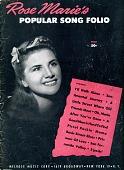 "view ""Rose Marie's Popular Song Folio"" digital asset: Sheet Music"