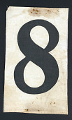 view Competitor Number worn by Louis Nixdorff in the 1928 Olympics digital asset: Nixdorff Number