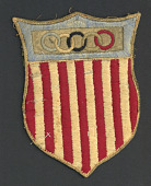 view Patch from the 1928 Olympics, worn by Louis Nixdorff digital asset: Nixdorff Number
