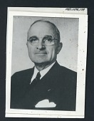 view photograph w/ frame digital asset: Photograph of President Harry Truman from set of TV series M*A*S*H