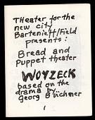 view Woyzeck digital asset: Bread and Puppet Theater program
