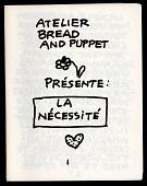 view Atelier Bread and Puppet Presente: La Necessite digital asset: Bread and Puppet Theater program