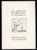 view La Ballata Dei XIV Giorni Di Masaniello digital asset: Bread and Puppet Theater program