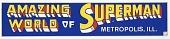 view Amazing World of Superman Bumper Sticker, Metropolis Il digital asset: Amazing World of Superman bumper sticker