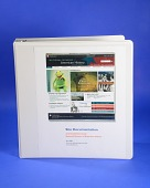view NMAH Web Site Documentation Binder digital asset: Loose-leaf binder, NMAH Web Site Documentation, cover.