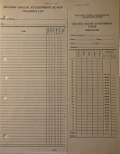 view Sheet, Second Grade Attainment Scale Record and Impression digital asset: Sheet, Second Grade Attainment Scale Record and Impression