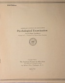view Psychological Test, American Council on Education Psychological Examination for College Freshmen. 1943 Edition digital asset: Psychological Test, American Council on Education Psychological Examination for College Freshmen. 1943 Edition