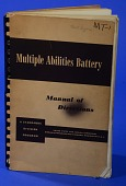 view Set of Sheets, Multiple Abilities Battery, Manual Of Directions digital asset: Set of Sheets, Multiple Abilities Battery, Manual Of Directions