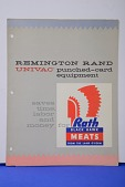 view Leaflet, Remington Rand UNIVAC Punched-Card Equipment Saves Time, Labor and Money for Rath Black Hawk Meats from the Land O'Corn digital asset: Leaflet, Remington Rand UNIVAC Punched-Card Equipment Saves Time, Labor and Money for Rath Black Hawk Meats from the Land O'Corn