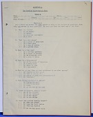 view Psychological Test, Burdick Apperception Test (Scale A) and Booklet on World War I Testing digital asset: Psychological Test, Burdick Apperception Test (Scale A)