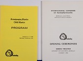 view Leaflet, Accompanying Member Child Member Program, International Congress of Mathematicians digital asset: Booklets, International Congress of Mathematicians, Accompanying Member Child Member Program and Opening Ceremonies