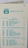 view Leaflet, PDP 8 Instruction List digital asset: Leaflet, PDP 8 Instruction List