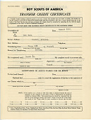 view Boy Scout Transfer Certificate, Poston digital asset number 1