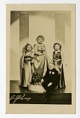 view portrait of four children dressed as movie stars digital asset number 1