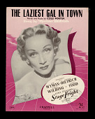 view The Laziest Gal In Town digital asset: Sheet Music - The Laziest Gal in Town