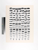 view Untitled composite print by Ray Metzker digital asset: seven strips of images of signs, trucks, etc