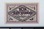 view 10 Pfennig Note, Bielefeld, Germany, 1919 digital asset number 1