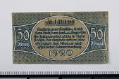 view 50 Pfennig Note, Bonn, Germany, 1920 digital asset number 1