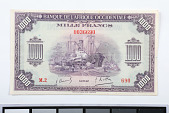 view 1,000 Francs, French West Africa, 1942 digital asset number 1