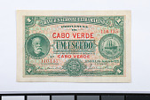 view 1 Escudo, Cape Verde, 1921 digital asset number 1