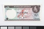 view 5 Cedis, Ghana, 1965 digital asset number 1