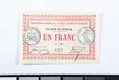 view 1 Franc, Senegal, 1917 digital asset number 1