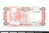 view 2 Leones, Sierra Leone, 1985 digital asset number 1