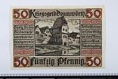 view 50 Pfennig Note, Donauworth, Germany, 1918 digital asset number 1
