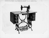 view Gold Star Domestic treadle sewing machine; ca. 1900 digital asset number 1