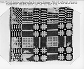 view Fragment of a geometric double cloth coverlet; Tennessee digital asset number 1