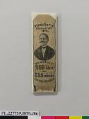 view Tilden Campaign Ribbon, 1876 digital asset number 1