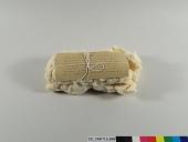 view Sample of carded Peruvian moderate rough cotton fiber; Wonalancet Co., NH; 1913 digital asset number 1