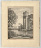 view A Temple on the Pacific Coast digital asset: Bromoil print, A Temple on the Pacific Coast