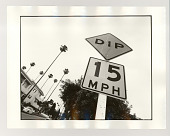 view A dip in the road digital asset: Photograph, silver gelatin, A dip in the road