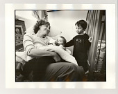 view Rebecca and boys digital asset: Photograph, silver gelatin, Rebecca and boys