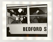 view Students on bus digital asset: Photograph, silver gelatin, Students on bus