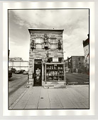 view An antique shop stands alone digital asset: Photograph, silver gelatin, An antique shop stands alone