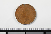 view 1 Penny, South Africa, 1943 digital asset: Coin, 1 Penny