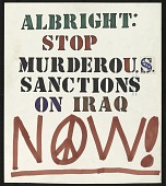 view Albright: Stop Murderous Sanctions on Iraq Now! digital asset number 1