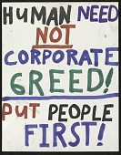 view Human Need Not Corporate Greed! Put People First! digital asset number 1